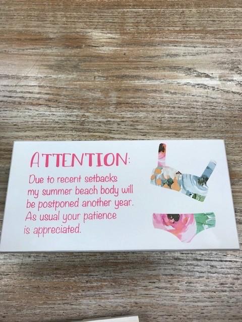 Decor Beach Body Sign 10x5