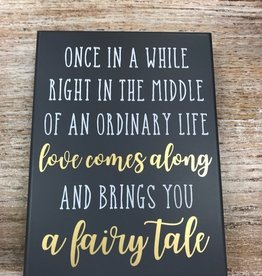 Decor Fairy Tale Sign 7.5x6