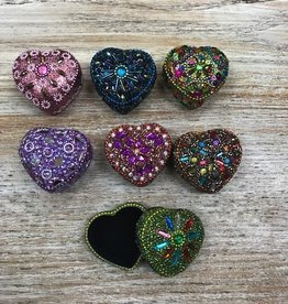 Decor Sequin Heart Trinket Box