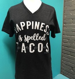 Top Happiness is Tacos Vneck Tee