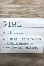 Decor Girl Noun Pallet Sign 14x11