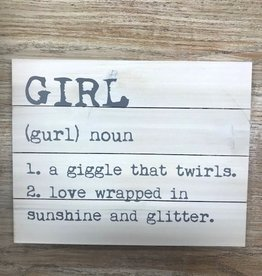 Decor Girl Noun Pallet Sign 14x11