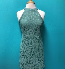 Dress Sleeveless Lace Fitted Dress