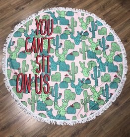 Towel Round Cactus Beach Towel
