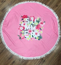 Towel Round Pink Summer Beach Towel