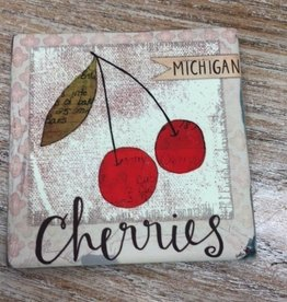 Kitchen Michigan Cherry Coaster