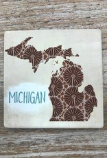 Decor Michigan Petoskey Stone Coaster