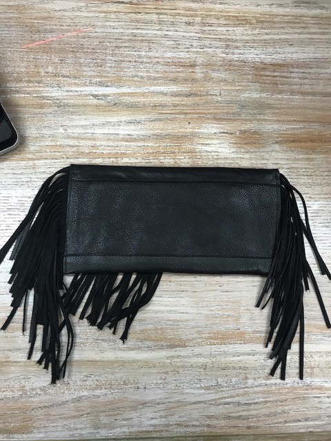Purse Black Envelope Clutch