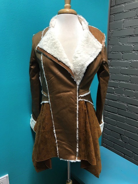 Jacket Camel Faux Leather Jacket
