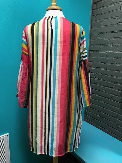 Dress Tropical Fiesta Stripe Dress