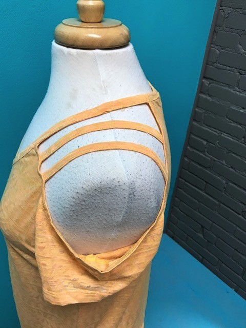Top Tangerine Cold Shoulder Top