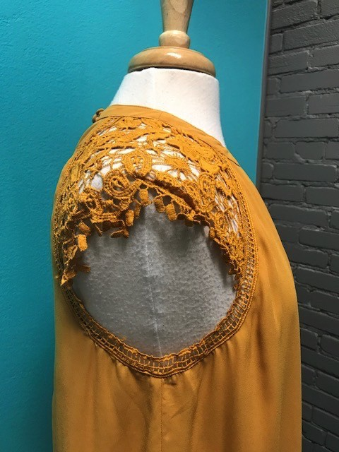 Dress Sunflower Cap Sleeve Swing Dress