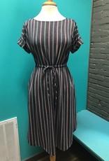 Dress Navy Stripe Dress w/ Pockets