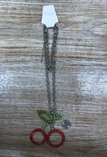 Jewelry Jumbo Cherry Crystal Pendant Necklace