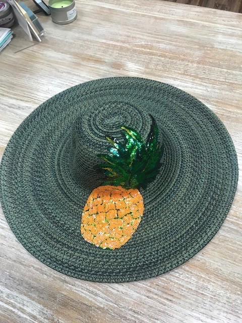 Hat Sequin Pineapple Floppy Hat
