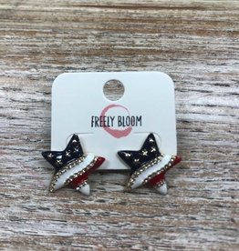 Jewelry Star American Flag Earrings