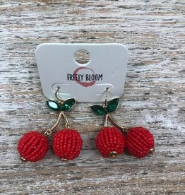 Jewelry Beaded Cherry Earrings