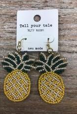 Jewelry Bead Pineapple Earrings