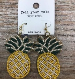 Jewelry Bead Pineapple Earrings