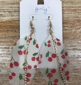 Jewelry Feather Cherry Earrings