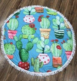 Towel Round Cacti Beach Towel