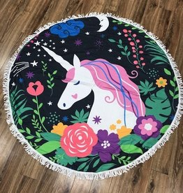 Towel Round Unicorn Beach Towel