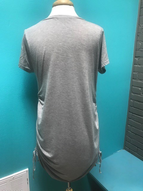 Dress Gray Ruched Side Dress