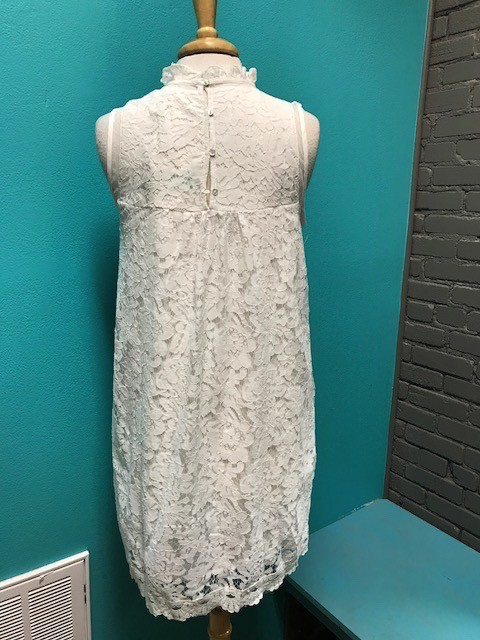 Dress White Embroid Lace Dress