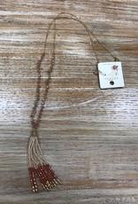 Jewelry Long Beaded Tassel Necklace Set