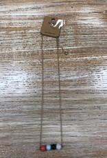 Jewelry Gold Necklace w/ 4 Beads