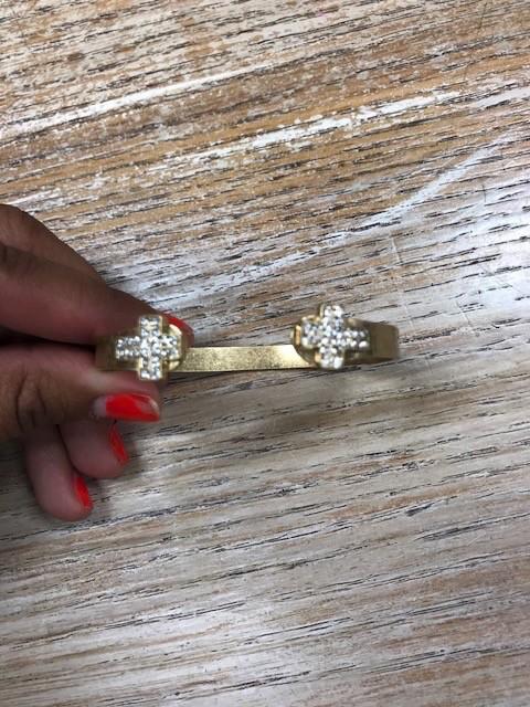 Jewelry Gold Cross Bangle