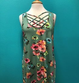 Tunic Floral Criss Cross Tunic