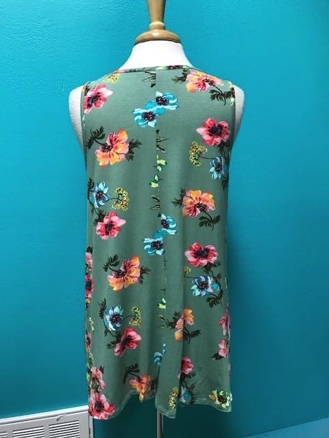 Tunic Floral Criss Cross Tunic