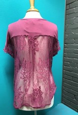 Shirt Plum Lace Back Shirt