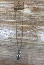 Jewelry Football Necklace w/ Earrings