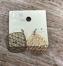 Jewelry Gold Woven Like Earrings