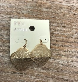 Jewelry Gold Unique Print Earrings
