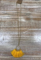 Jewelry Long Hoop Yellow Fring Necklace