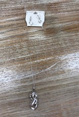 Jewelry Silver Twister Necklace Earrings