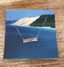 Jewelry Silver Bar Necklace, Sleeping Bear