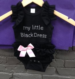 Kid's My Little Black Dress Baby- Ruffle