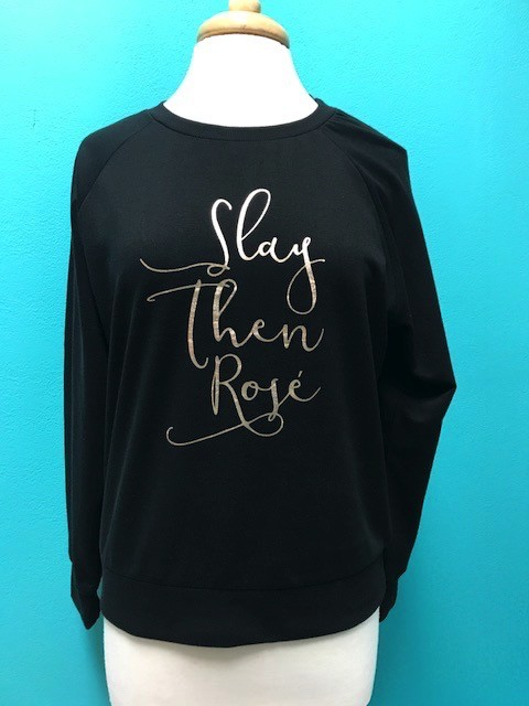 Long Sleeve Black LS w/ Saying