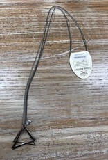 Jewelry Long Silver Triangle Necklace