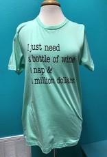Shirt Wine, Nap, Dollars Shirt