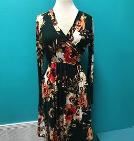 Dress Wrap Top LS Floral Dress