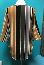 Top Mustard Stripe Kimono Top