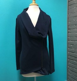 Jacket Navy Side Zip Jacket