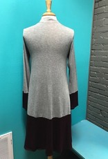 Dress Gray/Burg Mock Neck Dress