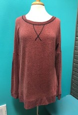 Long Sleeve Elbow Patch LS Top