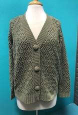 Cardigan Olive Diamond Knit Cardi